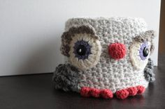 "Free pattern For ""Little Owl TP Keeper"" by Soapy Sue...I would not normally pin a ""TP"" Cover but i thought this one was really cute!"