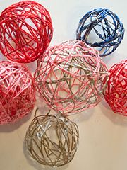 Tutos boules de no l en laine d couvrez comment faire des - Comment faire une boule de noel ...