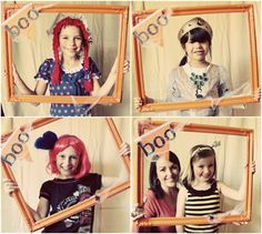 DIY Halloween photo booth - easy to create for a Halloween party #halloween #photobooth #party