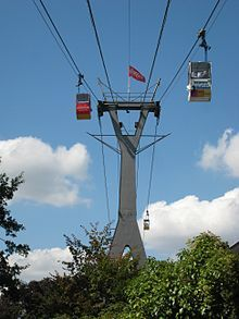 Cable Cars over Cologne Germany