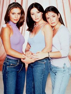 The Most Stylish TV Characters of All-Time: Alyssa Milano as Pheobe, Shannen Doherty as Prue, and Holly Marie Combs as Piper on Charmed, 1999.