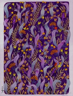 Night forest by Sofia Bonati Patterns In Nature, Textures Patterns, Sofia Bonati, Night Forest, Abstract Nature, Framed Prints, Art Prints, Graphic Patterns, Color Stories