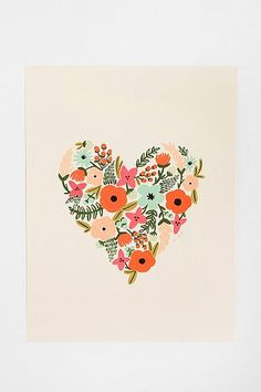 Rifle Paper Co. Floral Heart Print  $34.00