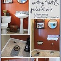 A powder room remodel is my next big project, but before the new can g…