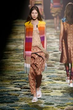 Dries Van Noten does the 1970s trend| Top Spring 2015 Trends: 186 runway and street style photos of fashion month's 10 biggest moments
