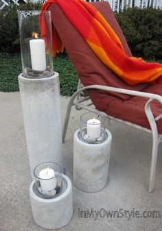 HOW TO MAKE A CONCRETE FIRE COLUMN with cardboard building forms