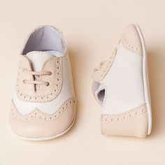 best website 6511b dd864 Boys Beige  amp  Ivory Wingtip Shoes ☆ Baby Beau  amp  Belle Baby Boy Shoes