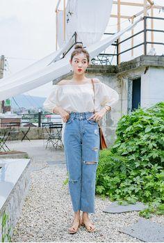 New Moda Coreana Verano 2019 15 Ideas Cute Fashion, Daily Fashion, Girl Fashion, Fashion Looks, Fashion Outfits, Fashion Design, Korean Fashion Trends, Korea Fashion, Asian Fashion