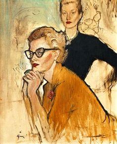 Illustration by René Gruau (1909 - 2004)  ~Repinned via mariette νιѕкєя