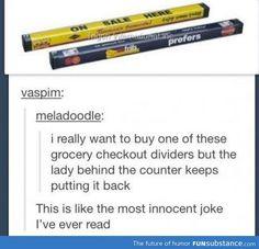 Innocent joke.