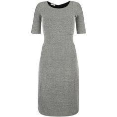 Hobbs Martha Dress, Black/White (16030 RSD) ❤ liked on Polyvore featuring dresses, bodycon dress, midi dress, short sleeve dress, body con dress and mini dress