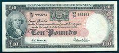 R63 AUSTRALIA PREDECIMAL NOTE £10 RESERVE BANK  EF