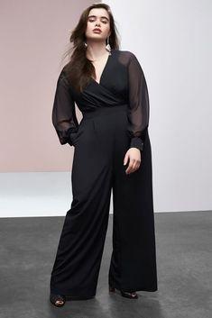 efcace7fd5d NEW LANE BRYANT PLUS SIZE BLACK WIDE LEG JUMPSUIT BY PRABAL GURUNG SZ 18   fashion