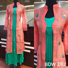 Stylish and designer kurti neck designs - ArtsyCraftsyDad Churidar Designs, Kurti Neck Designs, Kurti Designs Party Wear, Blouse Designs, Kurti Patterns, Dress Patterns, Indian Dresses, Indian Outfits, Neck Designs For Suits