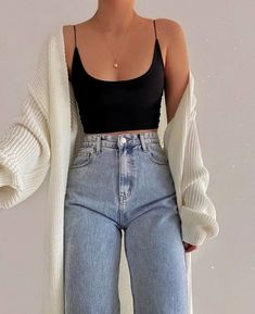 Teen Fashion Outfits, Mode Outfits, Retro Outfits, Look Fashion, Girl Outfits, Modest Fashion, 70s Fashion, Korean Fashion, Petite Fashion
