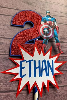 Captain America Centerpiece Stick | Superhero Party Decor Captain America Party, Captain America Birthday, Hulk Birthday Parties, Diy Superhero Birthday Party, Avengers Party Decorations, Birthday Party Centerpieces, Avengers Birthday, Loki Thor, Loki Laufeyson