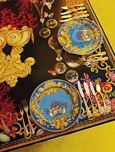 Table setting with Versace