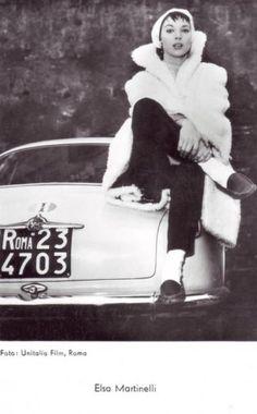 Elsa Martinelli et l'Alfa Romeo Giulietta