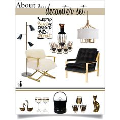 Untitled #261 by nonamecatvintage on Polyvore featuring interior, interiors, interior design, home, home decor, interior decorating, Worlds Away, Mitchell Gold + Bob Williams, MCM and Oliver Gal Artist Co.