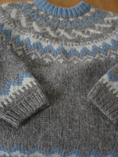 Vintage Icelandic Hand Knit Sweater. $50.00, via Etsy.