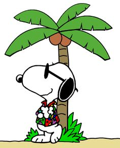 Snoopy - The World Famous Traveler in Tahiti