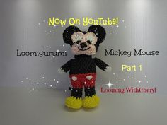 Rainbow Loom Mickey Mouse - Loomigurumi Part 1 of 2 - Looming WithCheryl ( Looming With Cheryl ) Tutorial is Now on YouTube! Charms / figures / gomitas / gomas / animals. Crochet / hook only / Amigurumi. Please Subscribe ❤️❤ m.youtube.com/user/LoomingWithCheryl