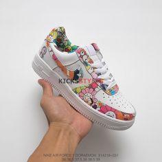 9d34b29c2f61 Custom Takashi Murakami x Doraemon x Nike Women Air Force 1 Low Flowers