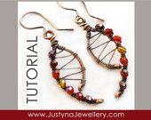 Wire Jewelry Tutorial, Wirewrapping Jewelry Tutorial, Pendant Tutorial, Spiral Earrings Tutorial, Beading Tutorial, Curved Earrings Tutorial