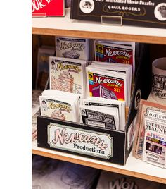 'Newcastle Productions' zines and souvenirs by Trevor Dickinson! – Photo by Sean Fennessy
