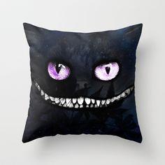 CHESHIRE Throw Pillow by Julien Kaltnecker - $20.00