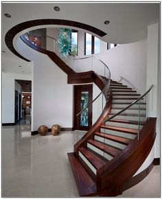 7 Elegance Curved Staircase Plans