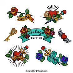 Bildergebnis für tattoo vintage style