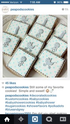 Elegant baby shower sugar cookies
