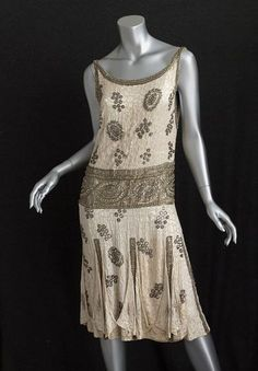 French Beaded Flapper Dress - 1920's
