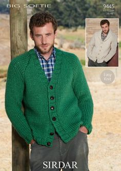 Pattern for Mens' knitted cardigan - Google Search