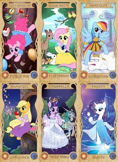 My little pony in Disney by APZZANG.deviantart.com on @deviantART