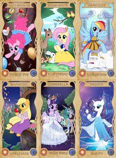 My little pony in Disney by APZZANG.deviantart.com on @deviantART