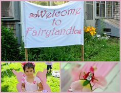 fairy party welcome sign