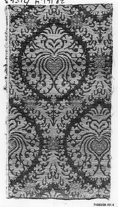 16th century Culture: Italian (Venice, probably) Medium: Silk, metal thread and linen Dimensions: L. 15 1/8 x W. 8 inches (38.4 x 20.3 cm)