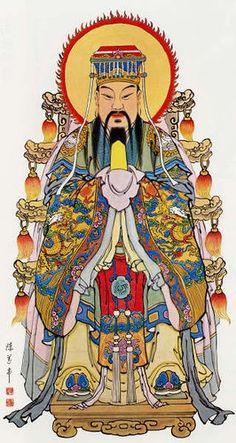 The Jade Emperor (Illustration) - Ancient History Encyclopedia Chinese Painting, Chinese Art, Chinese Zodiac, Chinese Emperor, History Encyclopedia, Chinese Mythology, Chinese Cartoon, Taoism, Ancient China