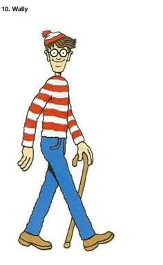 I got a wheres wally book for Christmas and after 2 seconds i found wally... true story