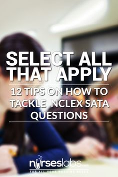 NCLEX Select all that apply or SATA questions are dreaded by examinees. Here are some tried and true strategies and tips on how to successfully answer SATA questions. College Nursing, Nursing School Tips, Nursing Notes, Nursing Career, Nursing Schools, Ob Nursing, Nursing Study Tips, Nursing Board, Rn Nurse