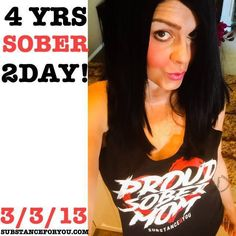 "A HUGE CONGRATS TO @Brandi_Sienna Brandi FOR GETTING 4 YEARS OF CONTINUOUS SOBRIETY IN RECOVERY TODAY!!! GIVE HER A VIRTUAL HUGE HUG AND SHOW HER IT WORKS! Now I want to share a little bit of what Brandi says about her 4 years today   ""RECOVERY SINCE 3.03.13!! HAPPY 4 YEARS (SHOUTING LOUD & PROUD). I'm so thankful for every single moment that has lead me to today. Most would say how can that be there was so much pain and suffering through the 18 years in my addiction. My response:  I still…"