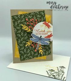 Stampin' Up! Dragonfly Garden Sneak Peek Thank You with Video Tutorial | Stamps – n - Lingers