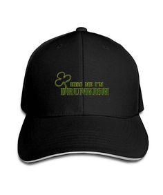 Black Kiss Me I'm Irish Drunk zomer mode Female's Baseball Caps