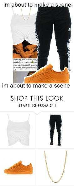 """"" by kitty-ma ❤ liked on Polyvore featuring Topshop, adidas and Bianca Pratt"