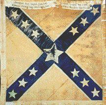 4th Texas Batle Flag virginia battle flag silk pattern variant wigfall presentation flag