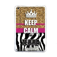 """$16.99 Amazon.com: ZEBRA Jersey Bling® Ipad Mini KEEP CALM AND SPARKLE, Glitter, or Pink, Silicone, TPU, Protector, Defender Back Cover, Case with 1 FREE 4"""" Metallic Jersey Bling® Stylus Touch Pen (Keep Calm and Zebra (Zebra Leopard)): Cell Phones & Accessories"""