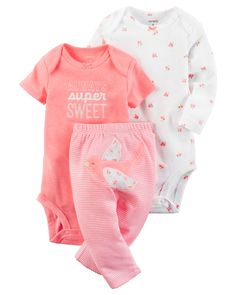 Carter's Baby Girls' Always Super Sweet Set 24 Months Carters Baby Girl, Baby Girls, Pyjamas, Baby Kids Clothes, Baby Girl Fashion, Future Baby, Boy Outfits, Cute Babies, Babies Stuff