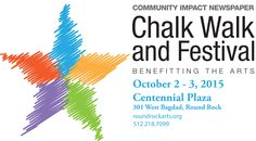 Chalk Walk 2015 with Community Impact in Downtown Round Rock, TX